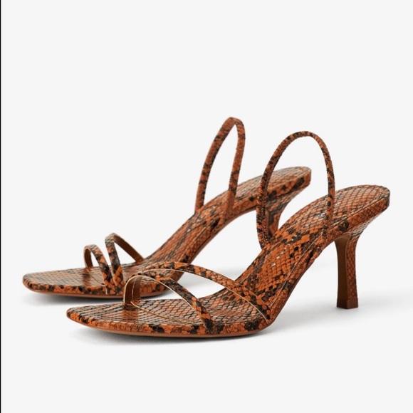 Zara Brown/Black Pattern Sandal